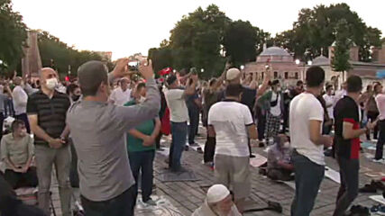 Turkey: Muslims pray outside Hagia Sophia after court ruled on its conversion to mosque