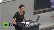 "Germany: Die Linke MP Wagenknecht brands third bailout ""shameful"""