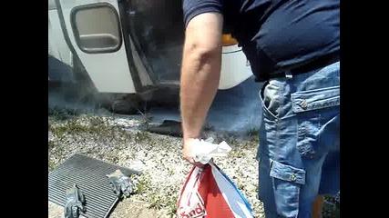 Автобус по линията София - Рибарица се запали (1)
