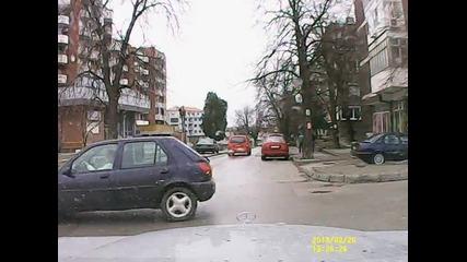 Демонстрация на видеозапис от автомобилна камера.
