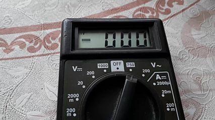 Неточно измерване на мултимер при изтощена батерия