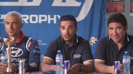 Пресконференцията на Hyundai Racing Trophy след 3-ия кръг, който беше част от рали Сливен