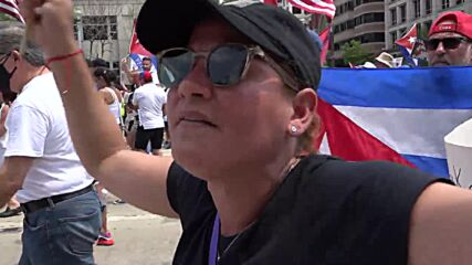 USA: 'Biden, we need your help' - hundreds march at 'Free Cuba' rally in DC