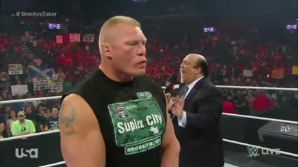 Brock Lesnar and Paul Heyman Segment + Bo Dallas