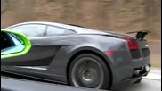 Зверска Надпревара Lamborghini Gallardo vs Gallardo Superleggera (from roll)