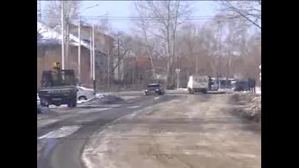 Руснак бяга от полицай !