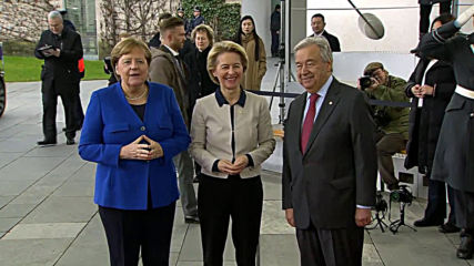 Germany: EU chief von der Leyen arrives at Libya conference in Berlin