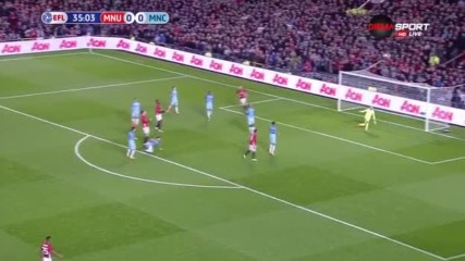 Манчестър Юнайтед - Манчестър Сити 0:0 /първо полувреме/