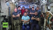 Space: Nine crew members give interview from ISS