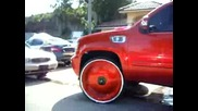 Chevy Tahoe on 30 quot; dub plates Kandyland Customs