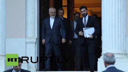 Иранският външен министър се срещна в Ципрас в Гърция