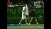- Тенисист Си Спуква Главата По Време на мач