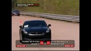 Nissan Gtr 510 hp vs. Bmw M6 630 hp [hq]