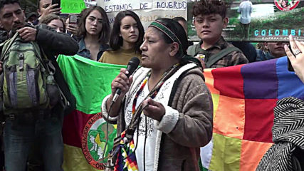 Colombia: Environmental and indigenous activists join international Amazon wildfire protests