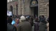 """Работниците от """"Кремиковци"""" отново на протест"""