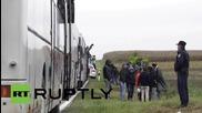 Croatia: Refugees continue their way through Croatia towards Hungary
