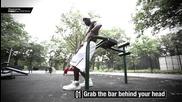 15. Street Fitness видео уроци от Hannibal for King - Вертикални ножици от драконов флаг