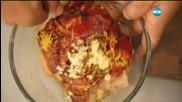 Пилешко с печени чушки - Бон Апети (21.09.2015)