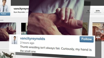 Ryan Reynolds Share First Pic of Baby James!