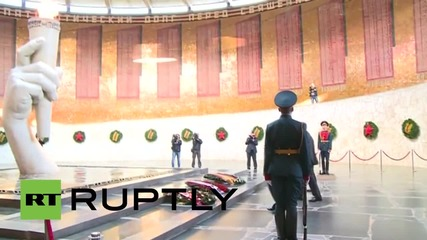 Russia: Lavrov and Steinmeier pay tribute to WWII at Volgograd's Eternal Flame