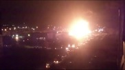 Експлозия на газ станция с пропан-бутан през нощта