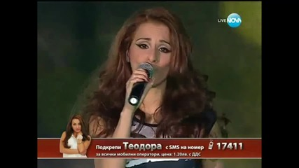 X Factor Bulgaria 13.12.2013 - Theodora Tsoncheva - The way you make me feel