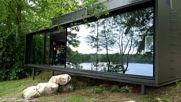 Vipp Shelter - къща на открито в гората с интересен дизайн.