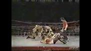 FMW Terry Funk & Mr.Pogo vs. Masato Tanaka & Hayabusa - Exploding Barbedwire Pit Deathmatch!!!