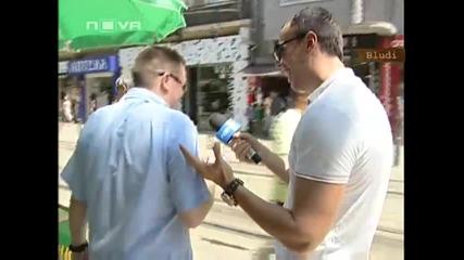 Репортер целува момиче с език в ефир - Луд Смях