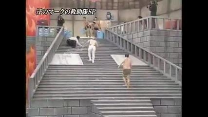 Хлъзгавите стълби - тези японци са откачени