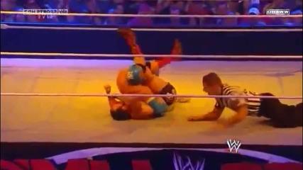 Over The Limit 2011 - Sin Cara botches La Mistica on Chavo Guerrero