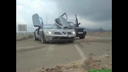 Mercedes Slr And Land Rover Range Rover