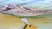 S04 Радостта на живописта с Bob Ross E13 - планинско предизвикателство finale ღобучение в рисуване,