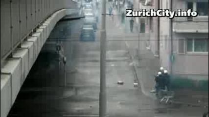 Безредици след мач между Цюрих и Базел