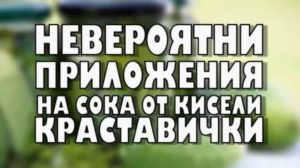 Невероятни приложения на сока от киселите краставички