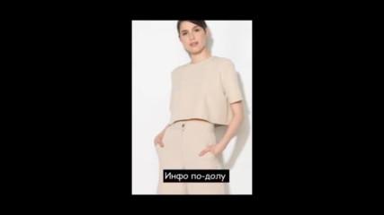 Zee Lane Collection Ефирна полупрозрачна блуза в тъмносиньо