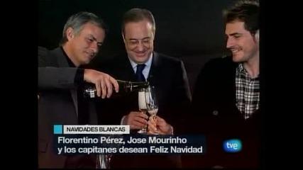 Реал поздрави запалянковците с коледна картичка