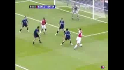 Arsenal Vs Inter 2:1 Van Persie