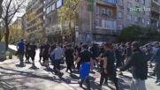 """Феновете на Левски пристигнаха на """"Васил Левски"""""""