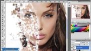 Borislavart : Speed Art - Анджелина Джоли Cube Face