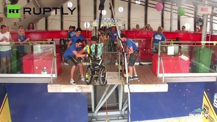 Wheelchair-Bound Man Captures 226 Foot Bungee Jump on GoPro