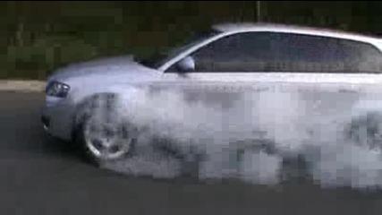 Audi много си мрази гумите !!!