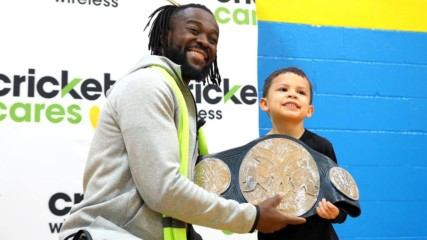 Kofi Kingston teams with Cricket Cares during Survivor Series weekend