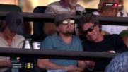 Лео ди Каприо гледа Джокович в Индиън Уелс
