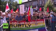 Germany: Police detain antifa activists during far-right rally in Goslar