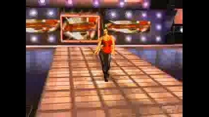 Candice Entrance Raw Vs Smackdown 2008