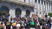 USA: Kneel-in protest against police brutality held in San Francisco