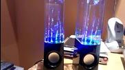 Светещи тонколони - светлинно водно шоу