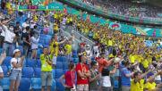 Голът на Форсберг срещу Словакия