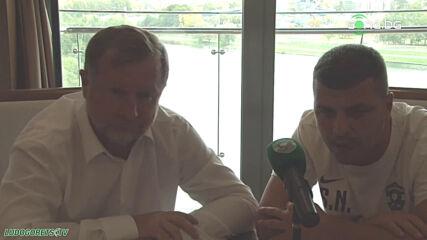 Пресконференция на Павел Върба преди двубоя срещу Динамо Брест